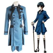 Anime Black Butler Cosplay Costumes Ciel Phantomhive Costume Detective Uniforms Halloween Party Kuroshitsuji