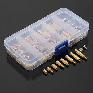 Image 3 - مجموعة متنوعة من الصواميل مع صندوق ، 120 قطعة/المجموعة/مجموعة ، ذكر/أنثى ، نحاس ، مباعد ، عمود PCB ، براغي سداسية ، مجموعة أدوات تثبيت