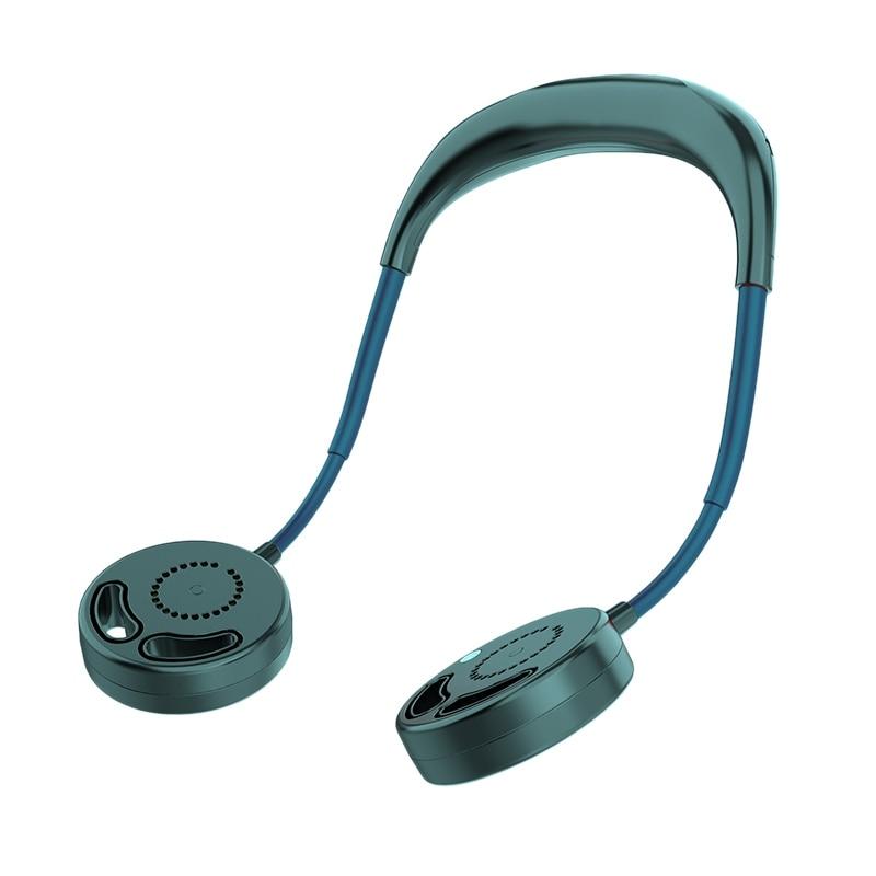 No Fan Blades USB Rechargeable 2000MAh Portable Hanging Neck Sports Fan Headphone Design Mini Cooler Wearable Neck Fans For Trav