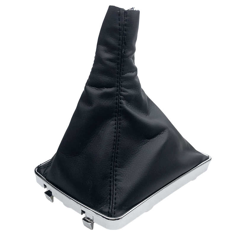 De cuero tapa de pomo de cambio de marchas de Collar caso marco para OPEL ASTRA III H 1,6 VAUXHALL 2004, 2005, 2006-2010 Blanco/punto negro