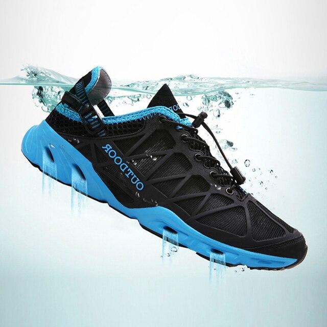 Unisex Đi Bộ Đường Dài Giày Không Lưới Ánh Sáng Ngoài Trời Giày Leo Núi Dành Cho Nữ Đi Biển Nước Aqua Giày Zapatillas De Agua