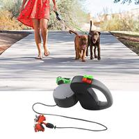 ABS Automatic Retractable Traction Rope With Two headed Creative Dog Leash Chain For Small Medium Large Dog Walking Leash Leads