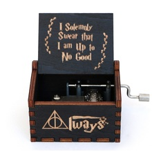 Harries Wooden Music Box Deathly Hallow Toys Potters Games of Musical Thrones Stationery Handicraft Figure Student Birthday Gift