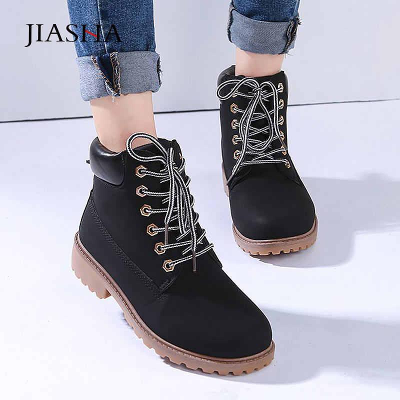 Ayak bileği çizmeler kadın ayakkabıları 2020 sıcak peluş martin kar botları deri kış ayakkabı kadın sıcak kürk peluş astarı beyaz botlar kadın