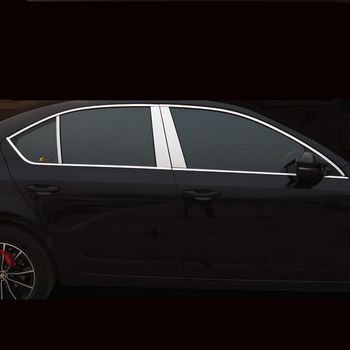 Lsrtw2017 Stainless Steel Car Window Trims for Skoda Octavia a7 2015 2016 2017 2018 2019 2020 Interior Accessories Chrome lsrtw2017 stainless steel car lower window trims for peugeot 5008 accessories