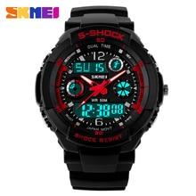 SKMEI Children Sports Watches Fashion LED Quartz Digital Watch Boys Girls Kids 50M Waterproof Wristwatches 1060 цена и фото