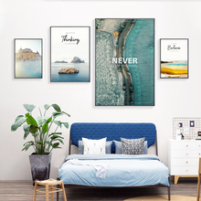 Lake Mountain Landscape Canvas Painting Mediterranean Road Nordic Poster Scandinavian Art Print Wall Pictures For Living Room цена и фото