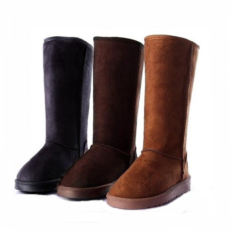 Botas de inverno de pele quente mulher ugged sapatos clássico 5815 joelho botas de neve alta pelúcia uggings austrália tamanho grande botas mujer