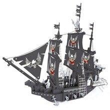 In stock Pirate ship model building blocks Educational DIY toys Birthday gift in stock lepin 22001 pirates series the imperial flagship model building blocks set pirate ship toys for children 10210