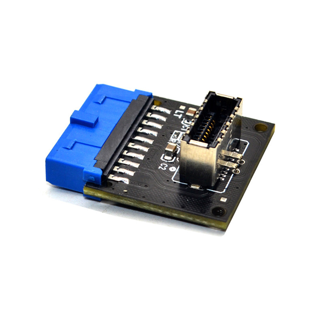 Type C USB3.1 Front Panel Socket <font><b>USB</b></font> <font><b>3.0</b></font> 19 Pin to TYPE-E 20Pin Header Extension Adapter for ASUS <font><b>Motherboard</b></font> PC <font><b>Connector</b></font> Riser image