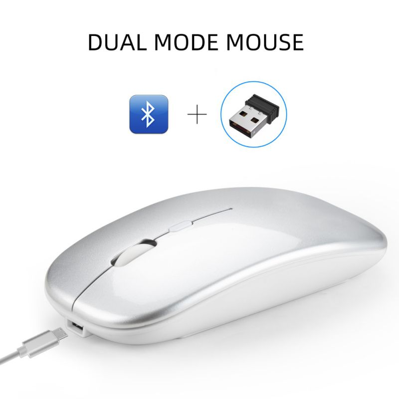 Dual Mode Wireless Mouse Bluetooth 2.4G Durable Comfortable Laptop PC Game Mice For Laptop Game Player