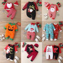 Рождественская зимняя одежда для маленьких мальчиков хлопковое