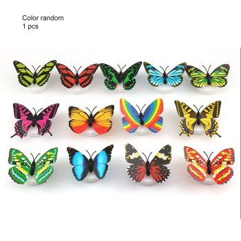 Creative Cute 3D Butterfly LED Light Color Changing Night Light Home Room Desk Wall Decor For Bedroom Living Room image