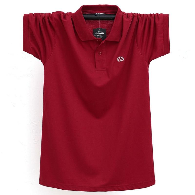 Summer Men Polo Shirt Brand Clothing Pure Cotton Men Business Casual Male Polo Shirt Short Sleeve Breathable Soft Polo Shirt 5XL 12