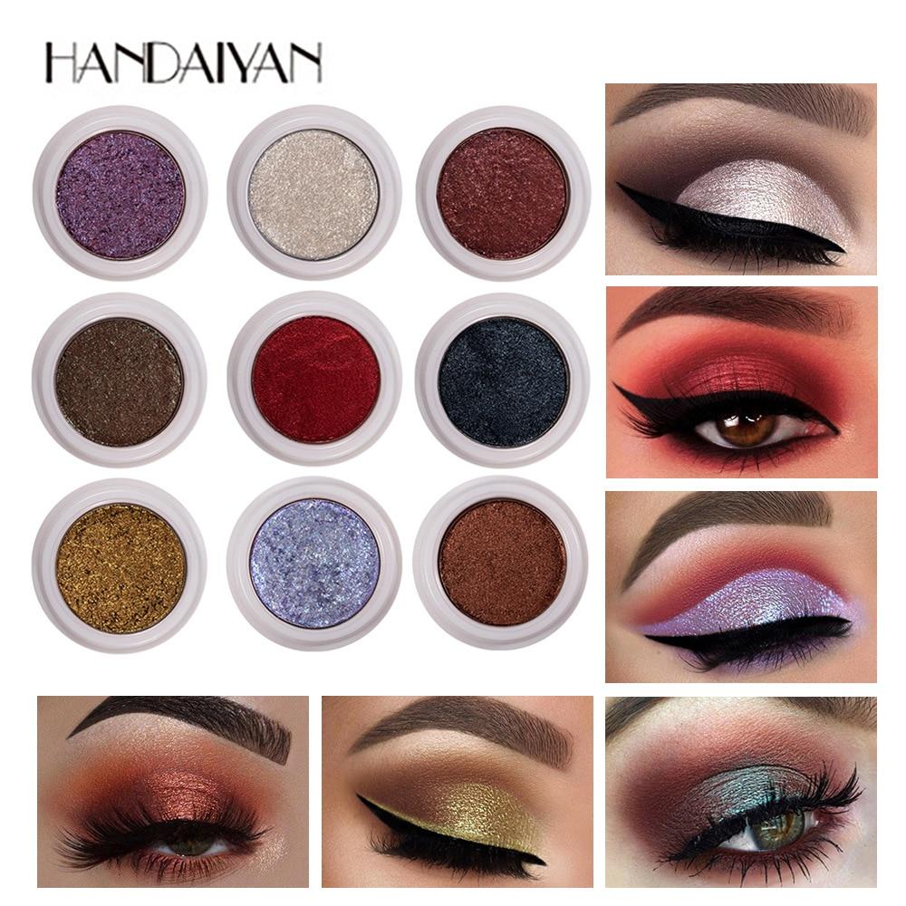 HANDAIYAN 12 цветов Блеск тени для век Палитра для пигментов металлическое мерцание тени для век палитра Макияж порошок Maquillage лица TSLM2