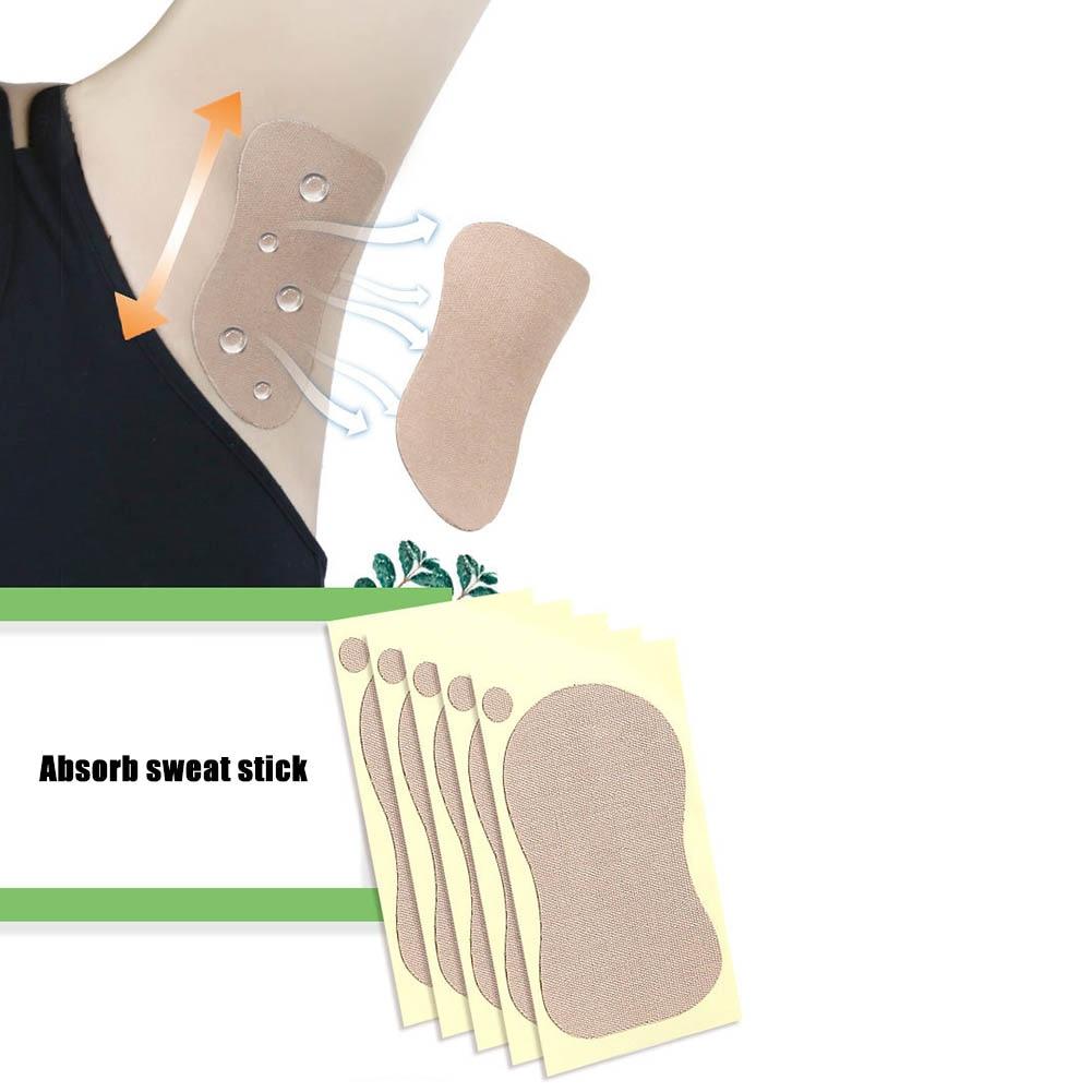 5 Pairs Men Women Armpit Sweat-Absorbent Pads Underarm Anti Perspiration Patch Shield Absorbing Deodorant Antiperspirant