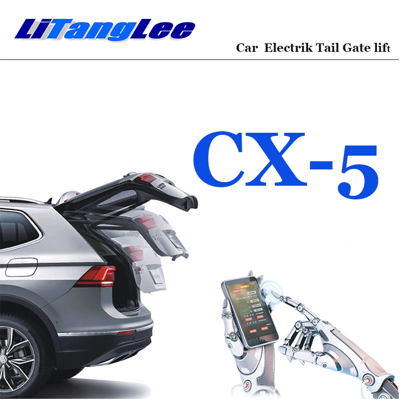 LiTangLee Car Electric Tail Gate Lift Trunk Rear Door Assist System For Mazda CX-5 2012~2019 Remote Control