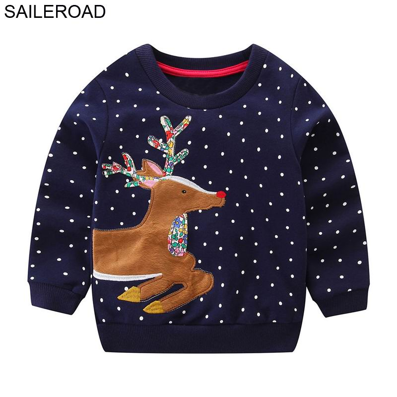 SAILEROAD 2 to 7years Sweater Reindeer Cartoon Sweaters for Newborn Girls 2021 Christmas Costume Boys Girls Clothes Winter 1