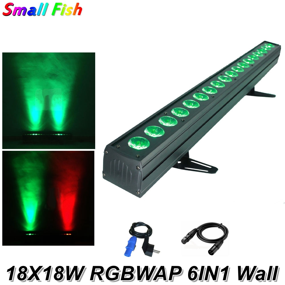 LED Bar Light RGBWAP 6IN1 18X18W LED Wall Wash Lights Perfect For Stage Party Wedding Disco Events Lighting Christmas Decoration