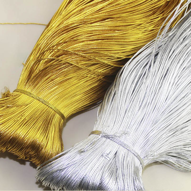100m Rope Gold Silver Cord Gift Packing String Beading Thread For Jewelry Making DIY Braid Bracelet Tag Line Labels Mark Lanyard
