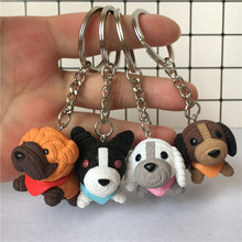 Fashion Dog Car Keychains Animal Couple Lovely Key Chains Car Gift For Girl Women Men Jewelry Mothers Day Bag Charm Pet Keyrings 2019 fashion dog car keychain animal couple lovely keychain car keyring gift for girl women and men jewelry anime keychain