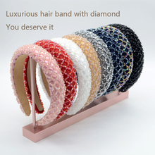 Baroque Band Drill Korean Band Band Wide Edge Women's Hair Band Black Pink White Hair With Elegant Lady Crystal Headwear Jewelry