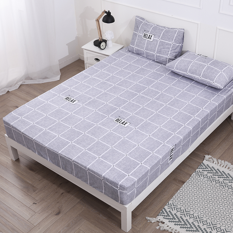 Printed Waterproof Mattress Protector Cover without Pillowcases Breathabla Bed Protection Pad Cover Anti-mite image