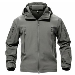 Image 3 - TACVASEN Fleece Tactical Jacket Men Waterproof Softshell Jacket Windproof Hunting  Jackets Hiking Clothes  Outdoor Heated Jacket
