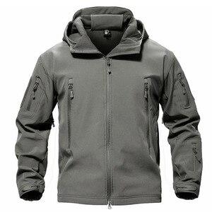 Image 3 - TACVASEN צמר טקטי מעיל גברים עמיד למים מעיל Softshell Windproof ציד מעילי טיולים בגדים חיצוני מחומם מעיל
