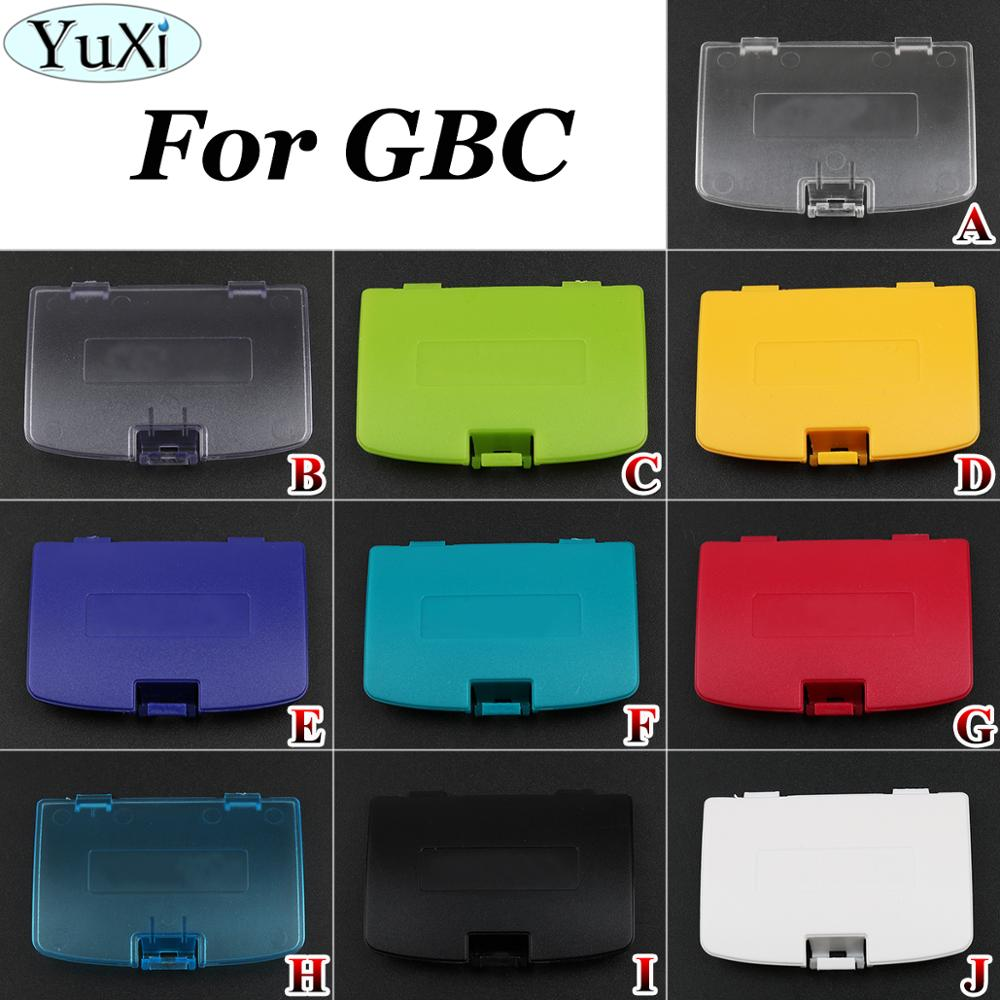 YuXi Replacement For Nintend for GameBoy Color Battery Cover Lid Door for GBC Game Consoles Battery Cover Pack Back Door Shell