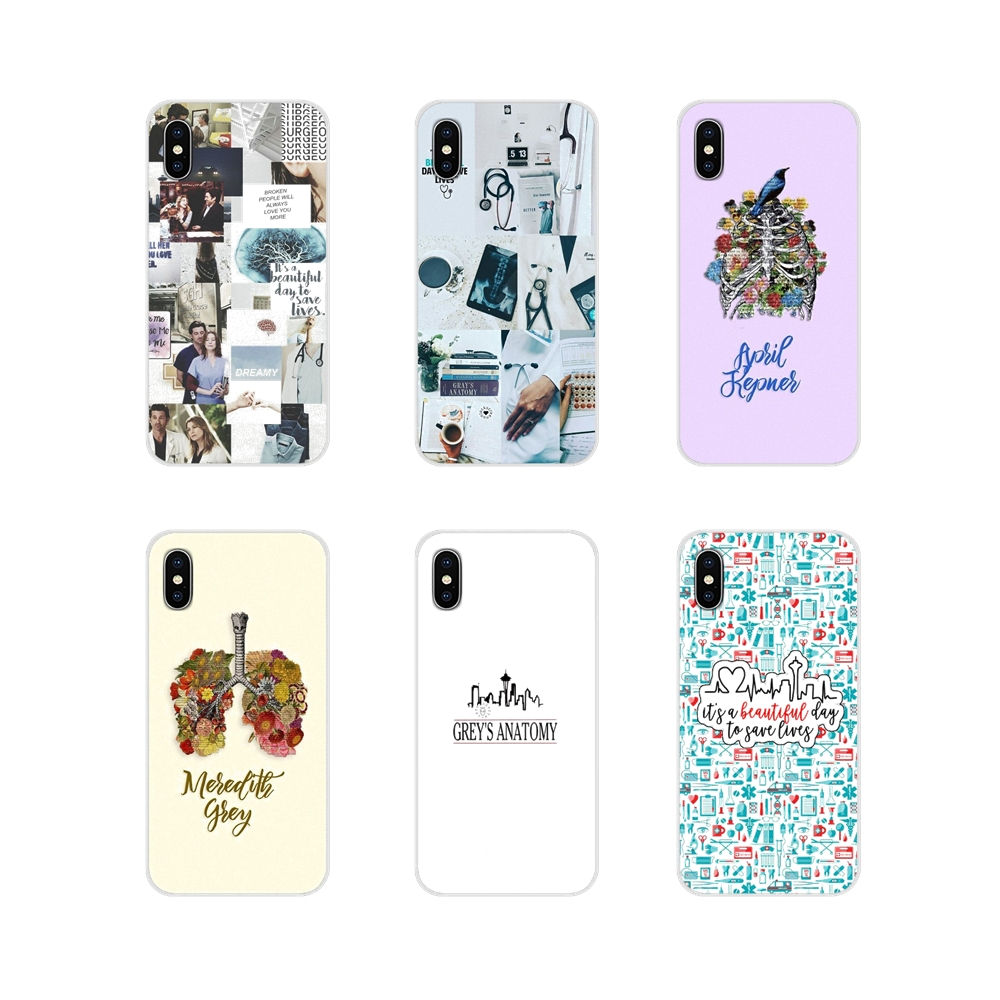 For Apple iPhone X XR XS 11Pro MAX 4S 5S 5C SE 6S 7 8 Plus ipod touch 5 6 Accessories Phone Cases Covers Grey's Anatomy