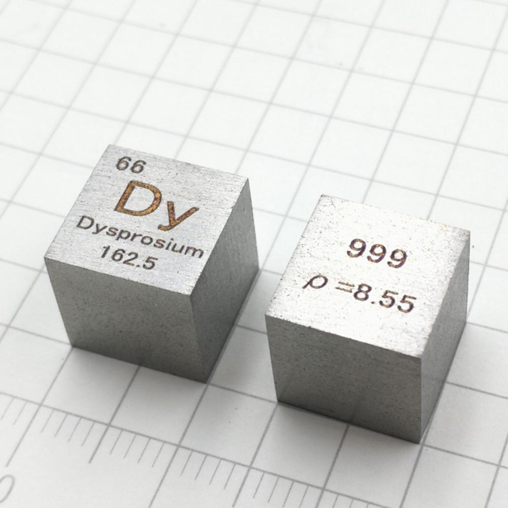 Dysprosium Metal 10mm Density Cube 99.9% Pure for Element Collection