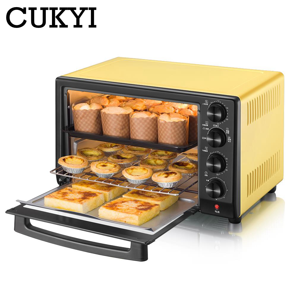 CUKYI 1600W 32L Household Mini Electric Oven Bread Baking Machine Intelligent Timing Baking Kitchen Bread Toaster Fermentation