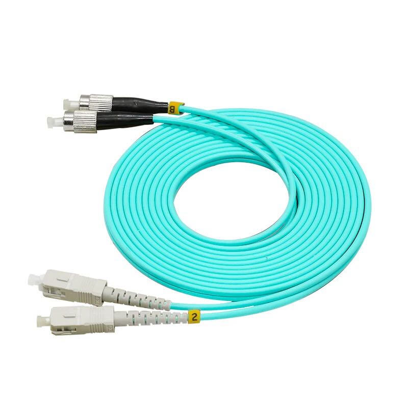 5PCS/LOT FC/UPC-SC/UPC Multi-Mode OM3 Fiber Cable Multimode Duplex Fiber Optical Patch Cord