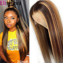 13x4 Straight Lace Front Wig Highlight Wig Human Hair Wigs Straight Blonde Lace Front Wig 4x4 Honey Blonde Lace Closure Wig
