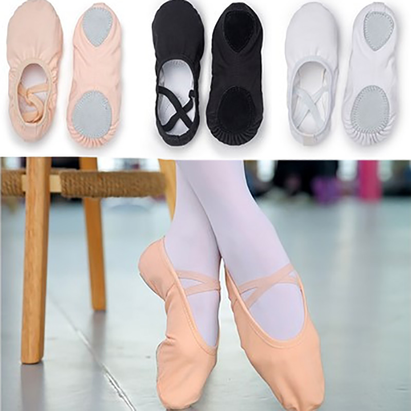 USHINE EU23 45 professional quality red slippers canvas soft sole belly yoga gym ballet dance shoes girls woman man ballerina