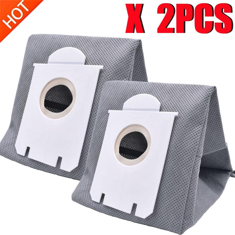 2Pcs Washable S-bag Dust Vacuum Cleaner Bags Dust Bag Replacement For Philips FC9071 FC8134 FC8613 FC8614 FC8220 FC8224 FC8200