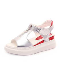 Women Sandals Flat Platform Increased Internal Casual Wedges Zipper Ladies Shoes Fashion Summer 2020 New Plus Size Shoes casual increased internal and lace up design athletic shoes for women