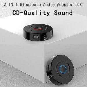 Image 2 - Bluetooth 5.0 récepteur émetteur 2 en 1 RCA 3.5mm AUX Jack stéréo musique Audio adaptateur sans fil pour voiture TV PC haut parleur casque