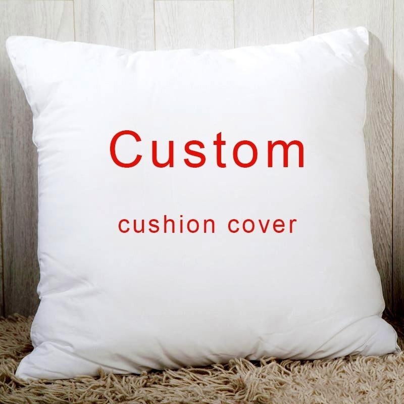 Custom Throw Pillow Cover Personalized Pillow Case, Your Custom Design, Customized Quote Accent Cushion Case,Household Gifts