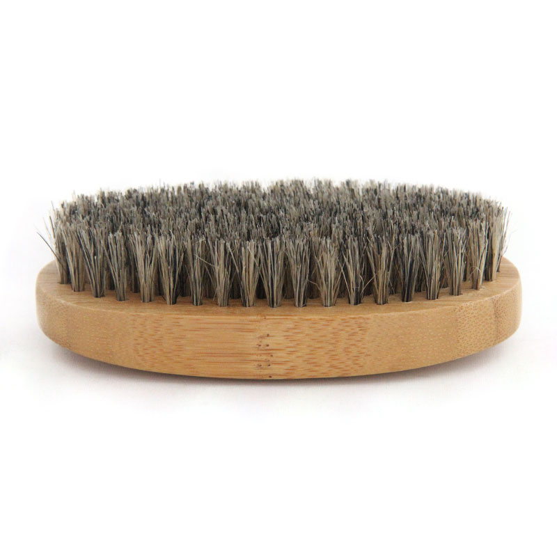 2020 New Natural Hemu Beard Brush For Men Bamboo Face Massage That Works Wonders To Comb Beards and Mustach(China)