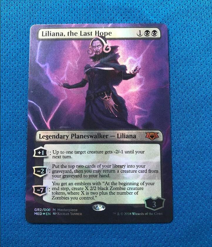 Liliana, The Last Hope MED Mythic Edition Foil Magician ProxyKing 8.0 VIP The Proxy Cards To Gathering Every Single Mg Card.
