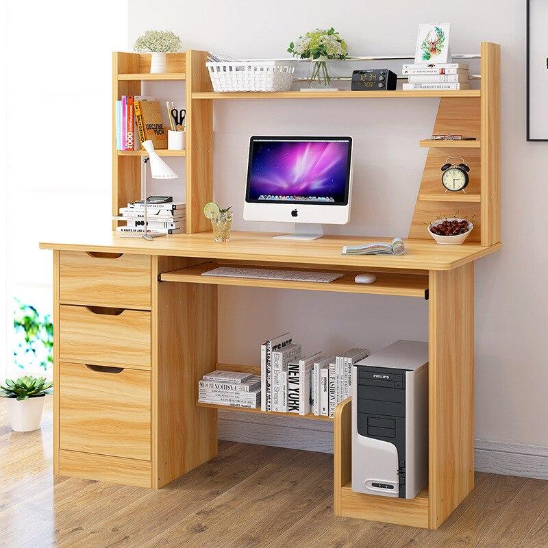 Computer Desktop Table Student Desk Bookshelf Combination Household Economical Doing Homework Table Province Space Multi-functio