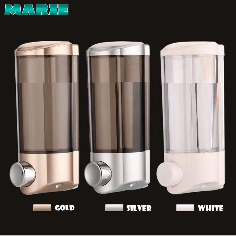 400ml Liquid Soap Dispenser Wall Shampoo Dispensers Hand For Sink Bathroom Washroom Hotel Shower Bath
