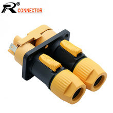 1Sets/lot 3 PIN Power Connector Male+Female Dual Panel Mount Chassis IP65 Waterproof NAC3FX OUT/IN 20A/250V Power Socket