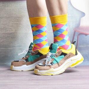 Image 5 - SANZETTI 12 çift/grup Yenilik erkek Renkli Penye Pamuk Kış sıcak Ekip Çorap Rahat Kişilik Mutlu düğün elbisesi Çorap