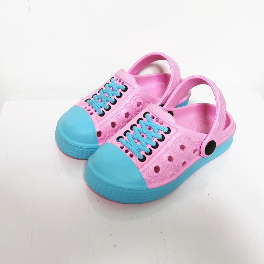 Girls  Kids Mules  Clogs Winter Children Crock Sandals Garden Cartoon Sport Slippers Cave Hole Baby Shoes For Girl EUR24-35