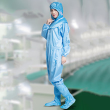 Solid White Safety Clothing Breathable Hooded Unisex Coverall Resistance To Oil Liquid Anti-static Jumpsuits Protective Suit