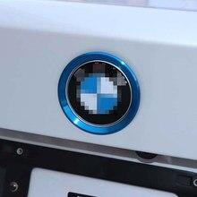 Aluminium Auto Vorne Hinten Logo Emblem Kreis Chrom Ring Dekoration Aufkleber Für BMW F30 F31 F35 Auto Zubehör