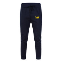 New Spring Autumn Men Joggers Sweatpants Fitness fleece Trousers Quality Sports Bodybuilding Pants Wholesale Oversized S - XXXL(China)